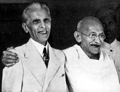 Jinnah_Gandhi-15-august-1947-indian independence day photos 1947