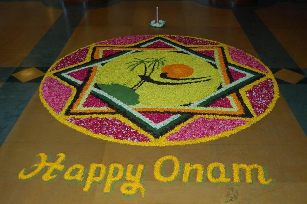 Hd wallpaper ganpati - Free Onam Rangoli Designs Amp Wallpapers Pookalam Festival