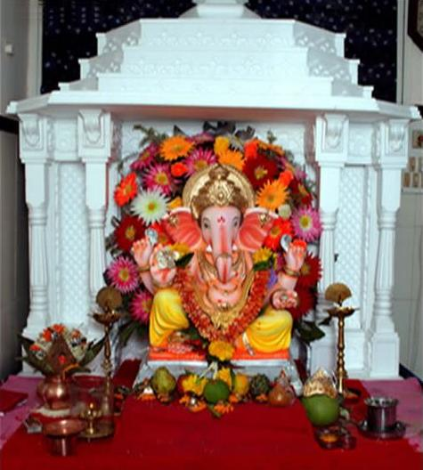 Ganpati THERMOCOL DECORATION-Ganpati-Makar-Decoration-Ideas