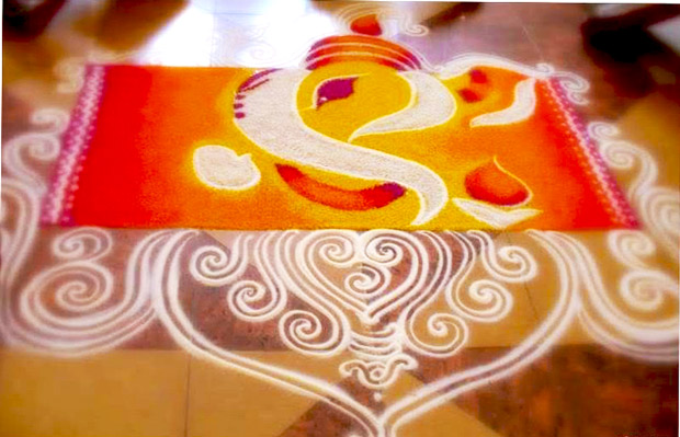 Top Ganesh Chaturthi PooKolam Pictures for free download