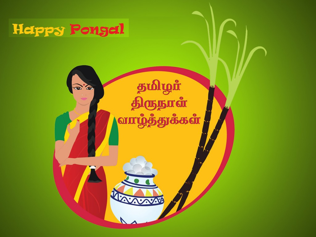 Happy Pongal Festival wishes in Tamil wallpapers