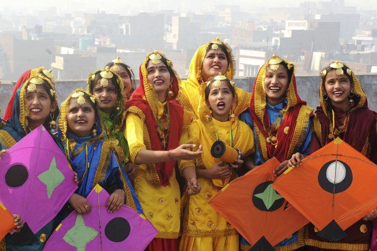 Happy lohri -punjabi-women-kits