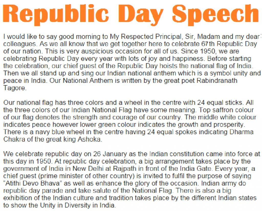 happy republic day speech and essay in hindi and english 26 republic day speech in english for