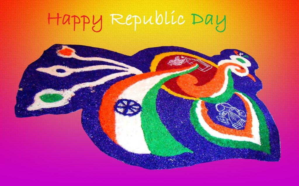 26th jan patriotic rangoli designs for republic day 2018