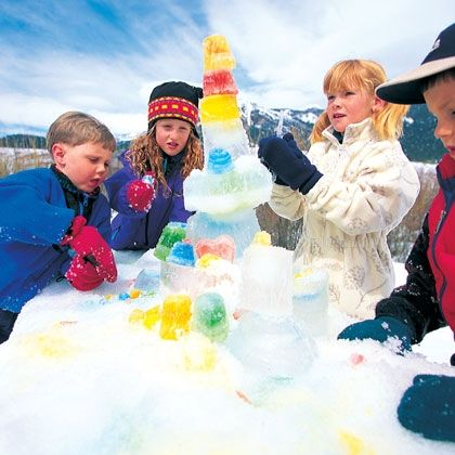Build an ice sculpture