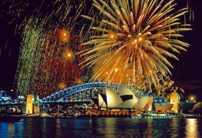 Happy New Year 2017 Fireworks in Sydney