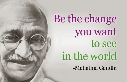 Ghandhi - Independence Day Famous Slogans & Quotes