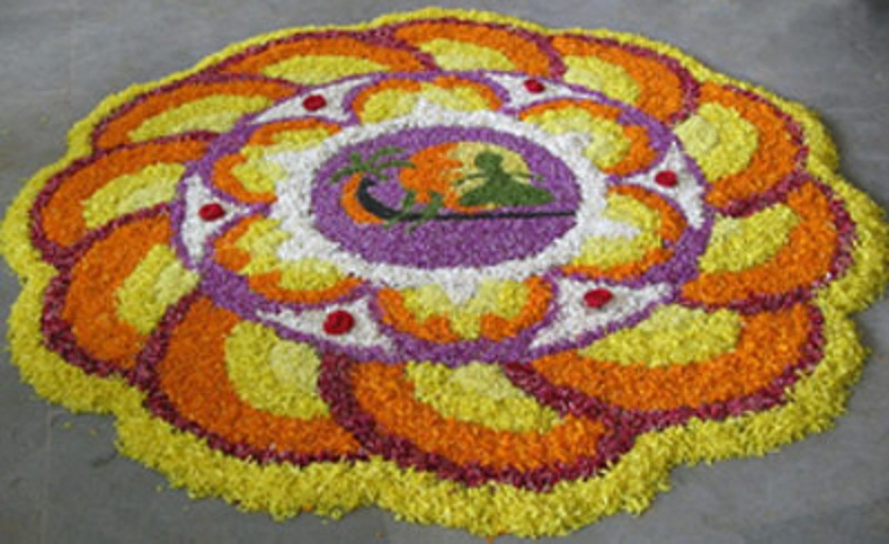 {Free} Onam Rangoli Designs & Wallpapers Pookalam-Festival