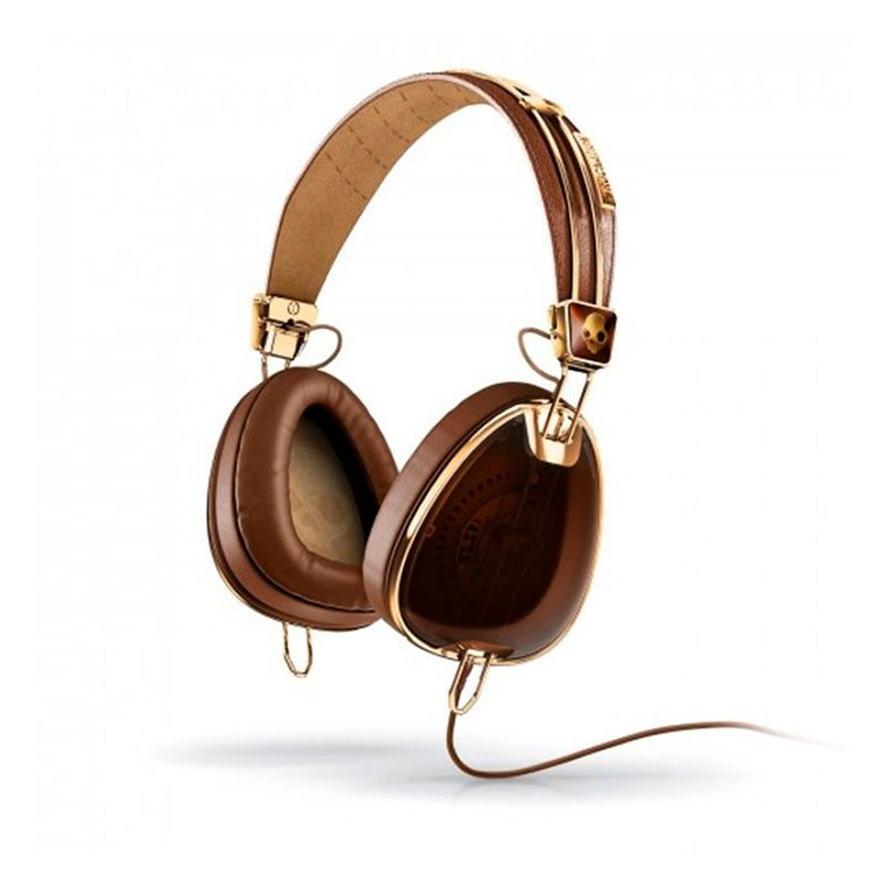 Skullcandy_Headphone_Aviator_With_Mic_Brown_Gold_gadgets_accessories_for_men