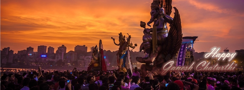 Ganesh-Visarjan-Lord Ganesha Images For Facebook Timeline Cover Picture