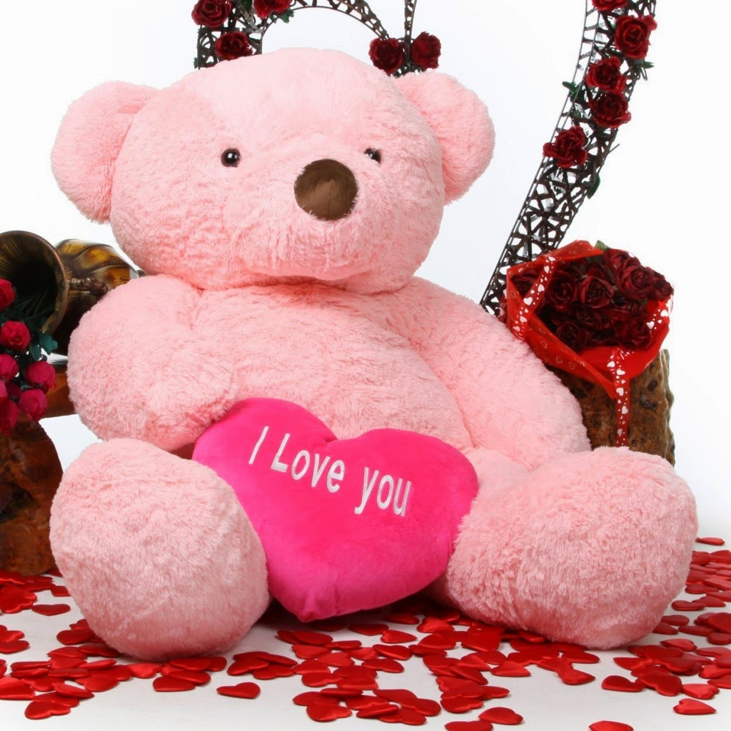 Teddy-Bears-romantic-birthday-gifts-for-girlfriend-love you
