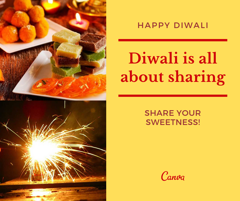Orange Diwali Sweets Facebook Post