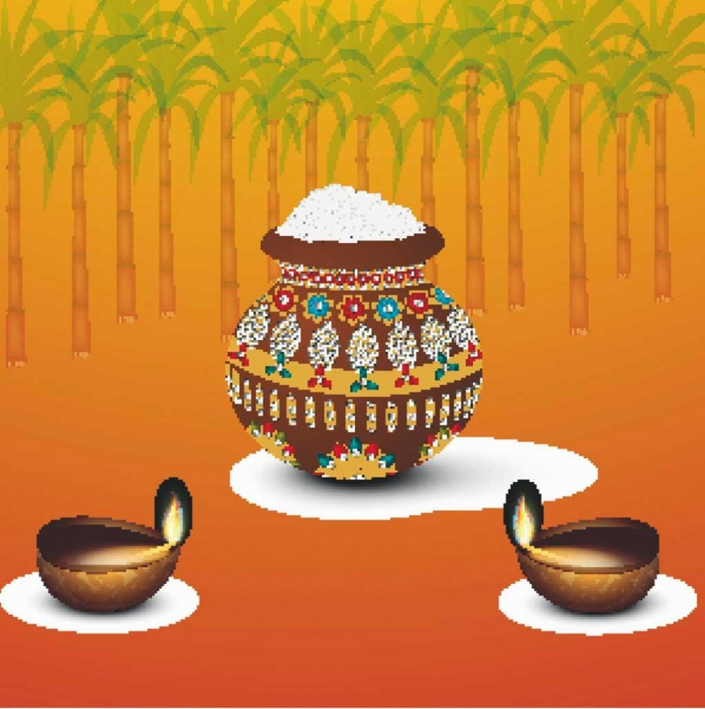 Happy Pongal Greetings SMS Messages In Hindi And Tamil