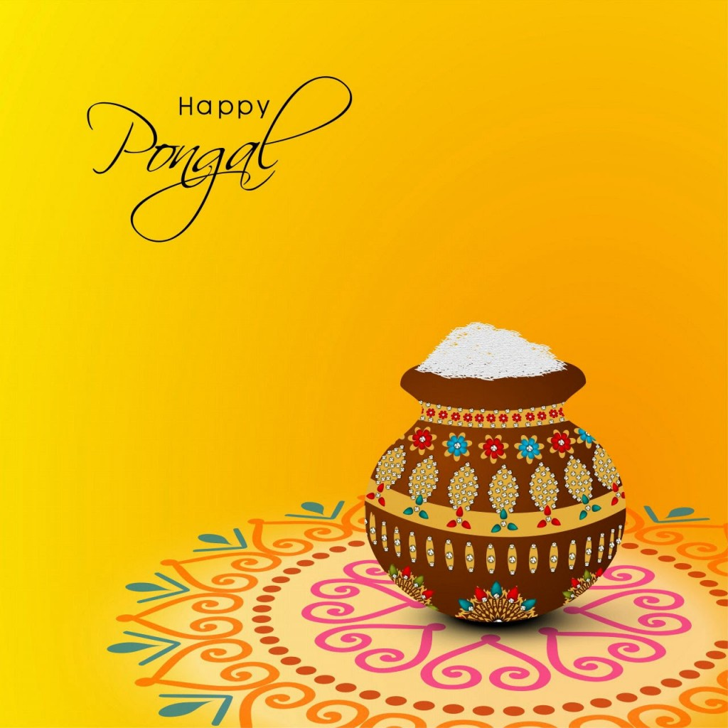 Happy Pongal Greetings SMS Messages-In Hindi And Tamil
