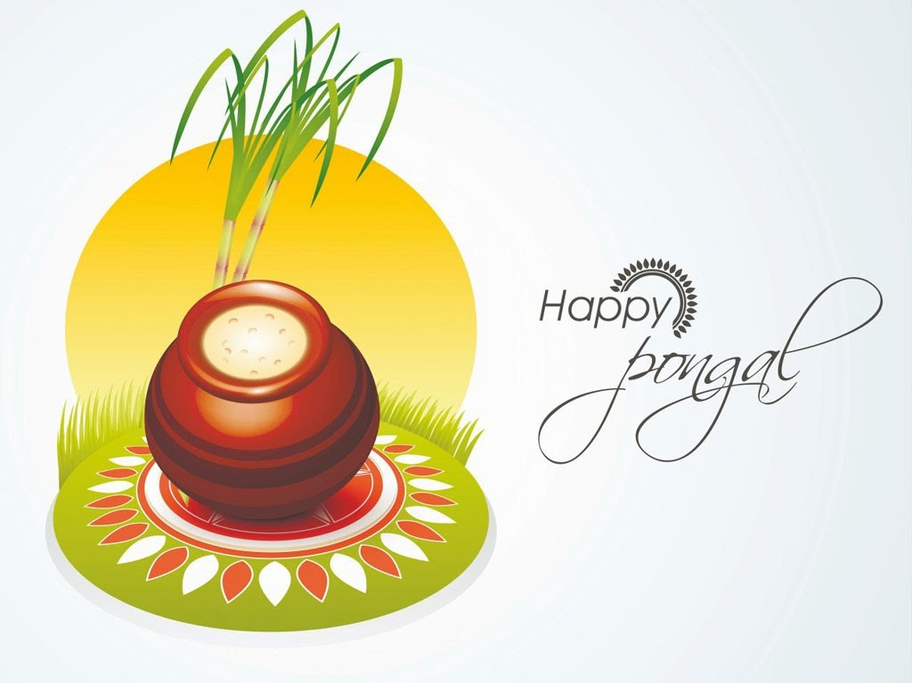 Happy Pongal Wishes Greetings Cards With-Quotes Wallpapers