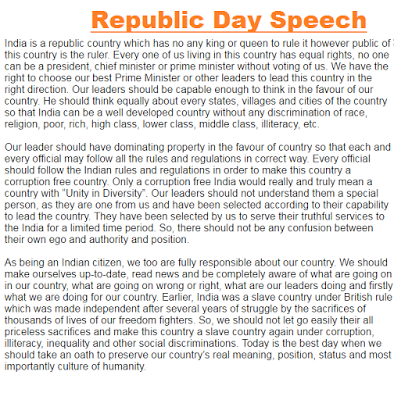 Essay republic day in english