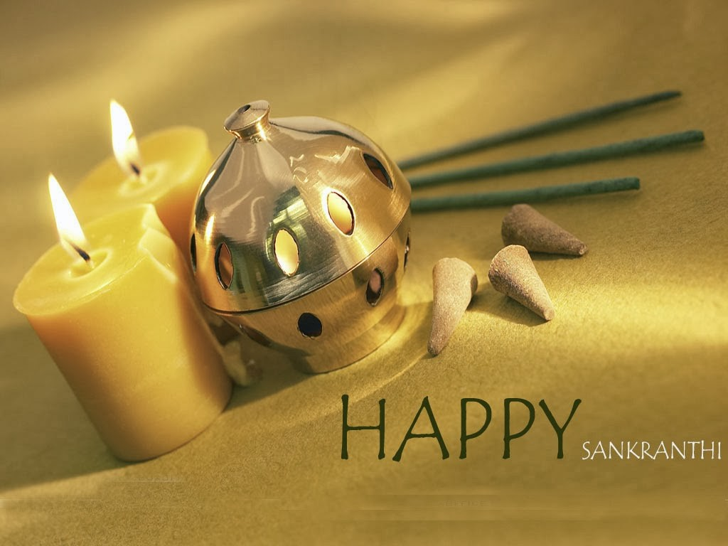 Happy Sankranti wishes with Candles photos