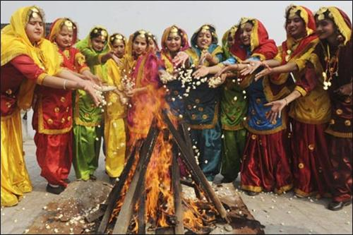 first Lohri of a New Bride
