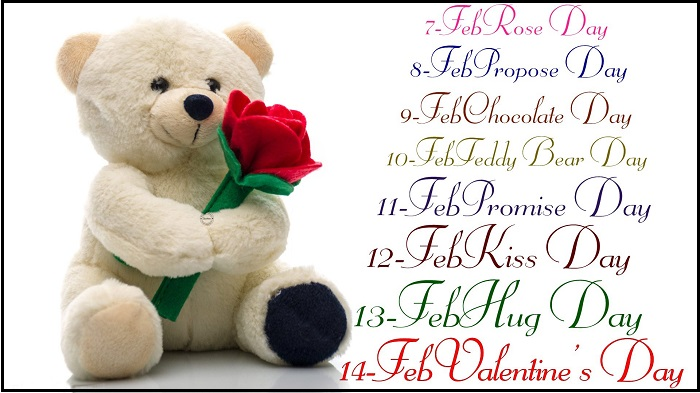 latest-valentine day week list 2016