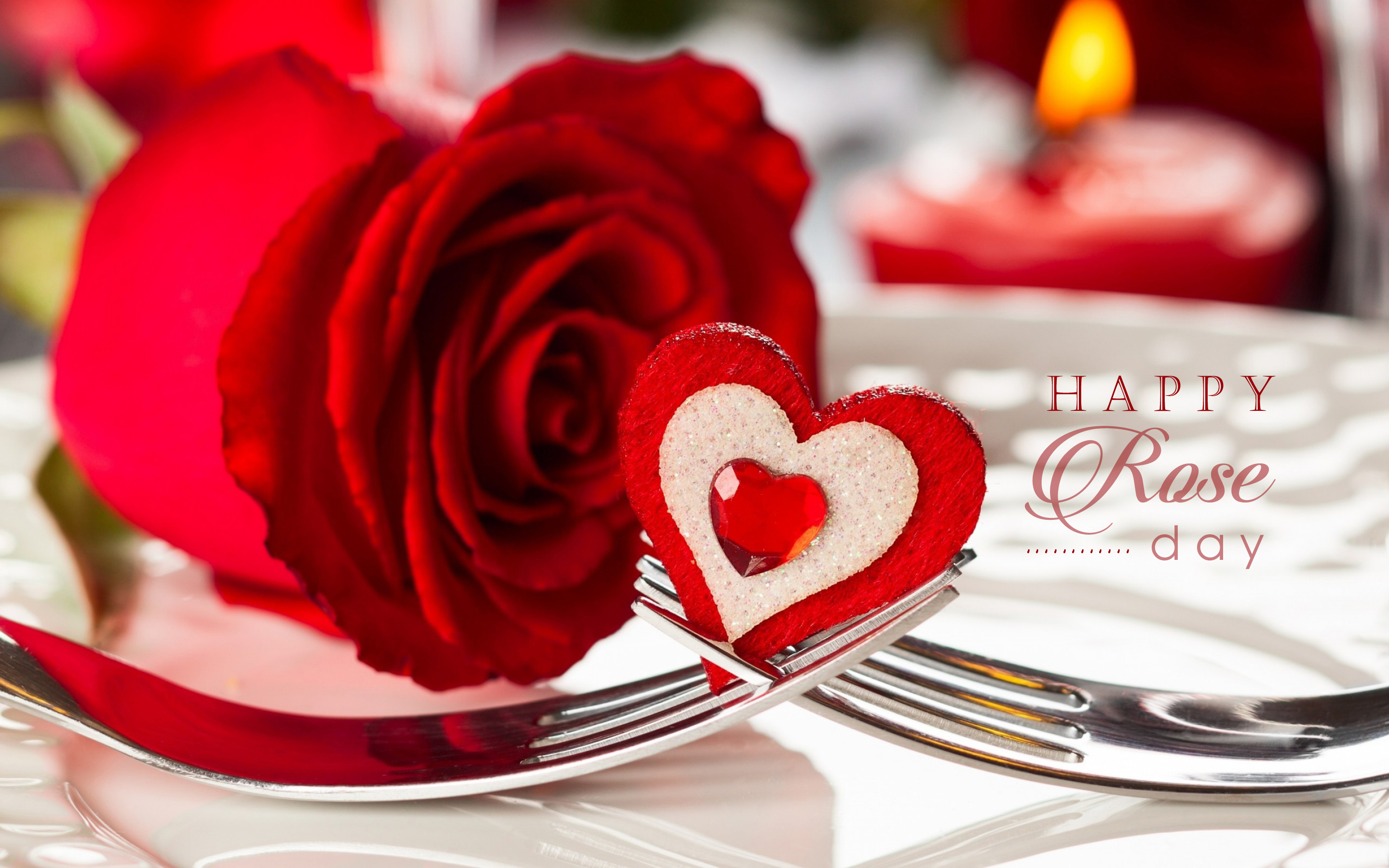 Valentine S Day Romantic Red Roses Hd Wallpapers Free