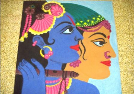 Radha-Krishna-Rangoli-Design