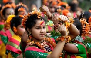 Shantiniketan-Holi celebration in West Bengal