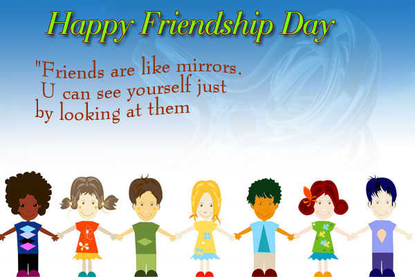 Friendship-day-friends-mirrors-friendship day greeting cards