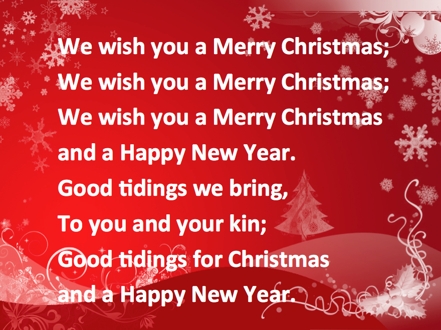 we wish you a merry christmas song for - Christmas Songs For Kids