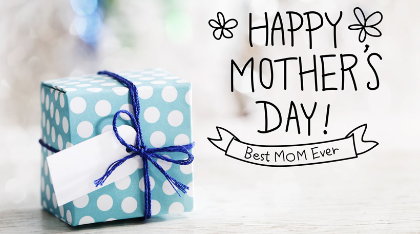 Happy Mothers Day message with gift box