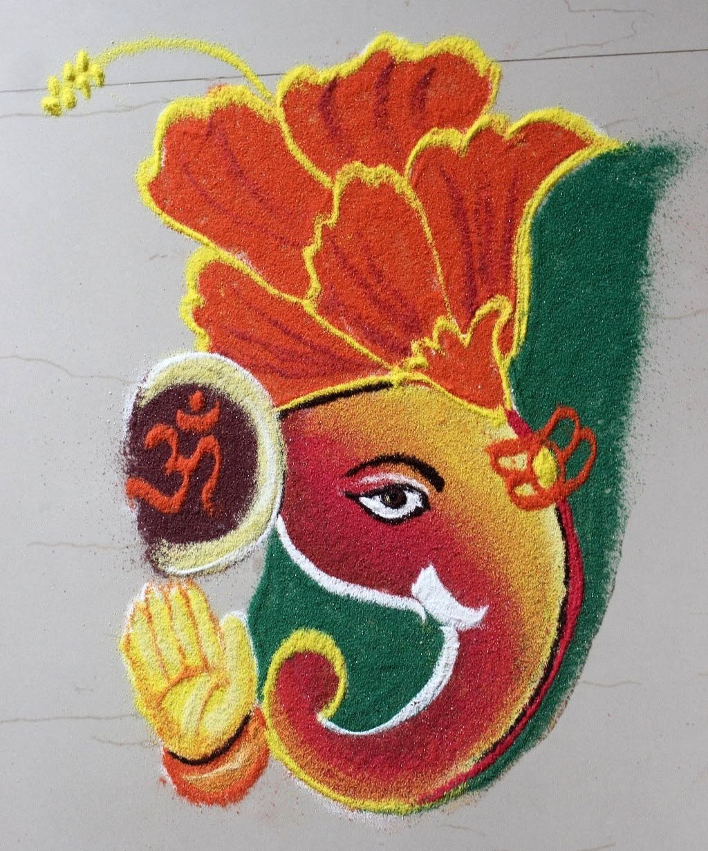 {Beautiful} Ganesha-Ganpati Rangoli Designs, Photo, Wallpape