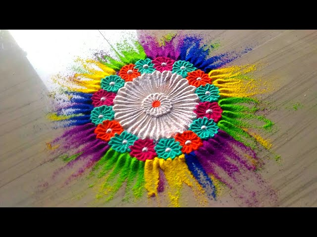 Best Holi Rangoli Designs