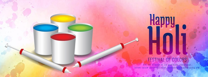 Happy Holi Cover Photos for Facebook
