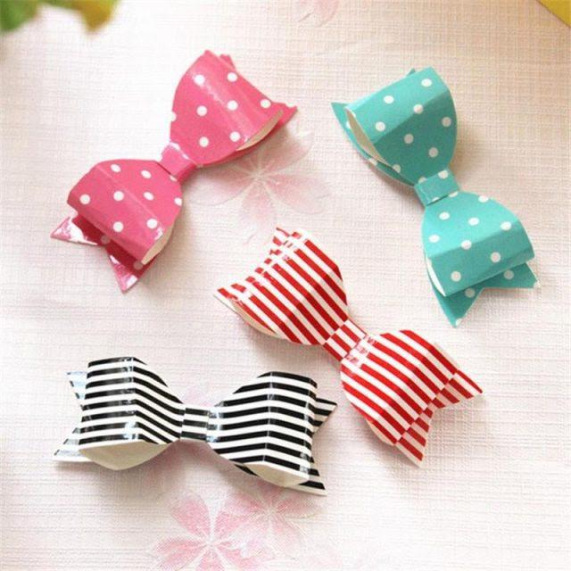 Add paper bows